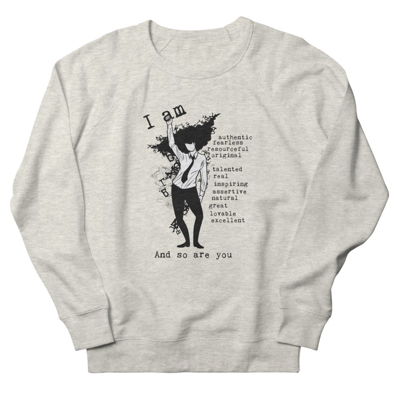 I Am Woman  Men's Sweatshirt by Afro Triangle's