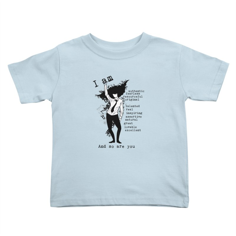 I Am Woman  Kids Toddler T-Shirt by Afro Triangle's