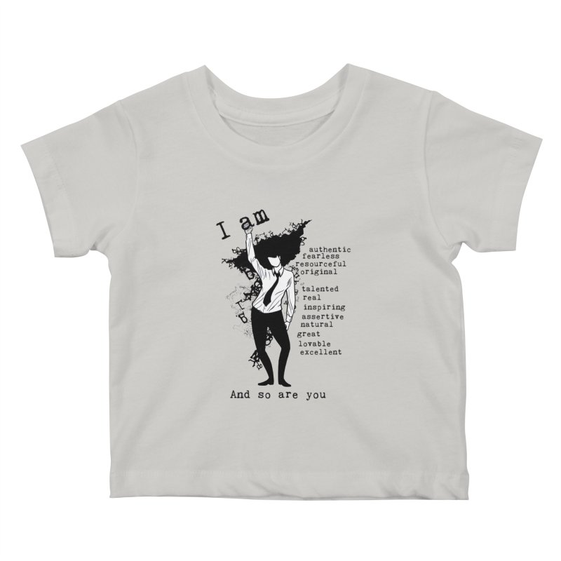 I Am Woman  Kids Baby T-Shirt by Afro Triangle's