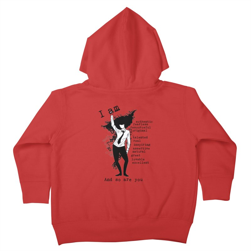 I Am Woman  Kids Toddler Zip-Up Hoody by Afro Triangle's