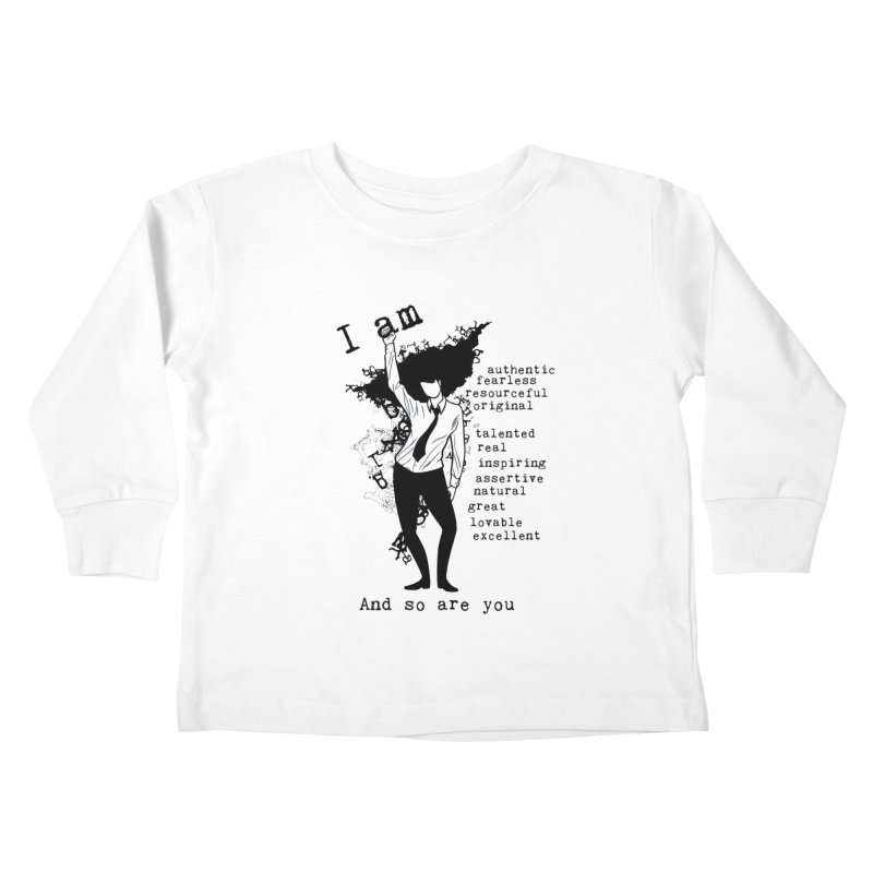 I Am Woman  Kids Toddler Longsleeve T-Shirt by Afro Triangle's