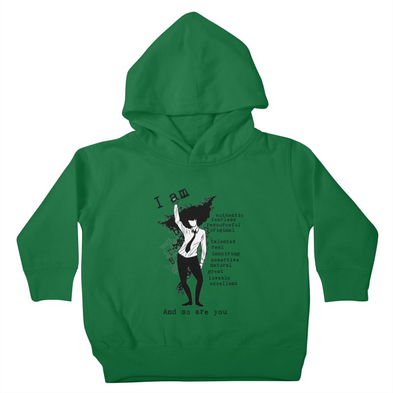 I Am Woman  Kids Toddler Pullover Hoody by Afro Triangle's