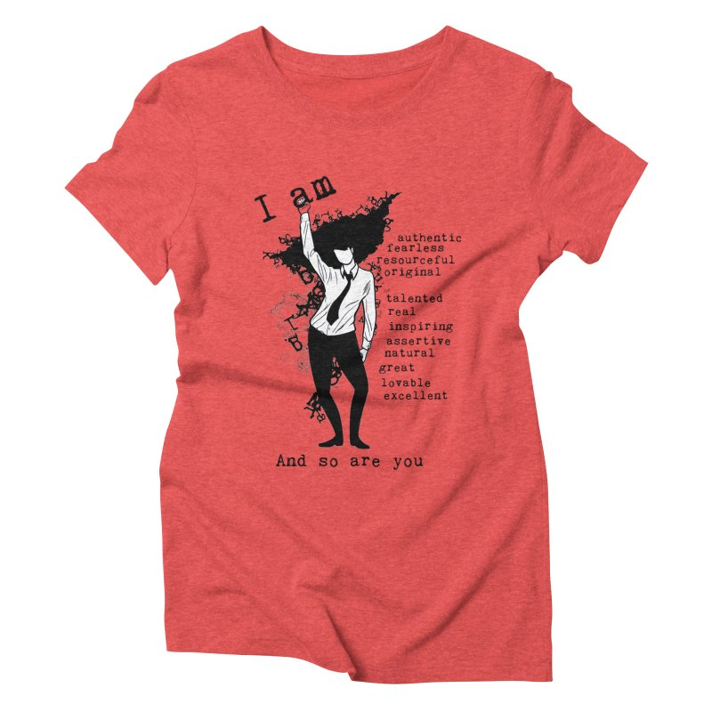 I Am Woman  Women's Triblend T-Shirt by Afro Triangle's