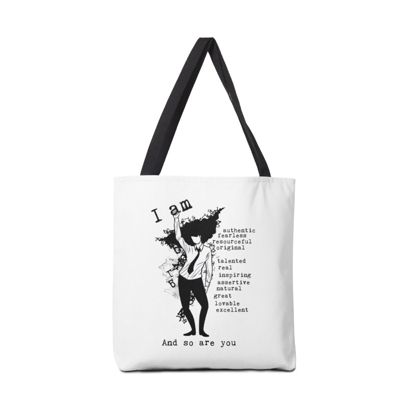 I Am Woman  Accessories Bag by Afro Triangle's