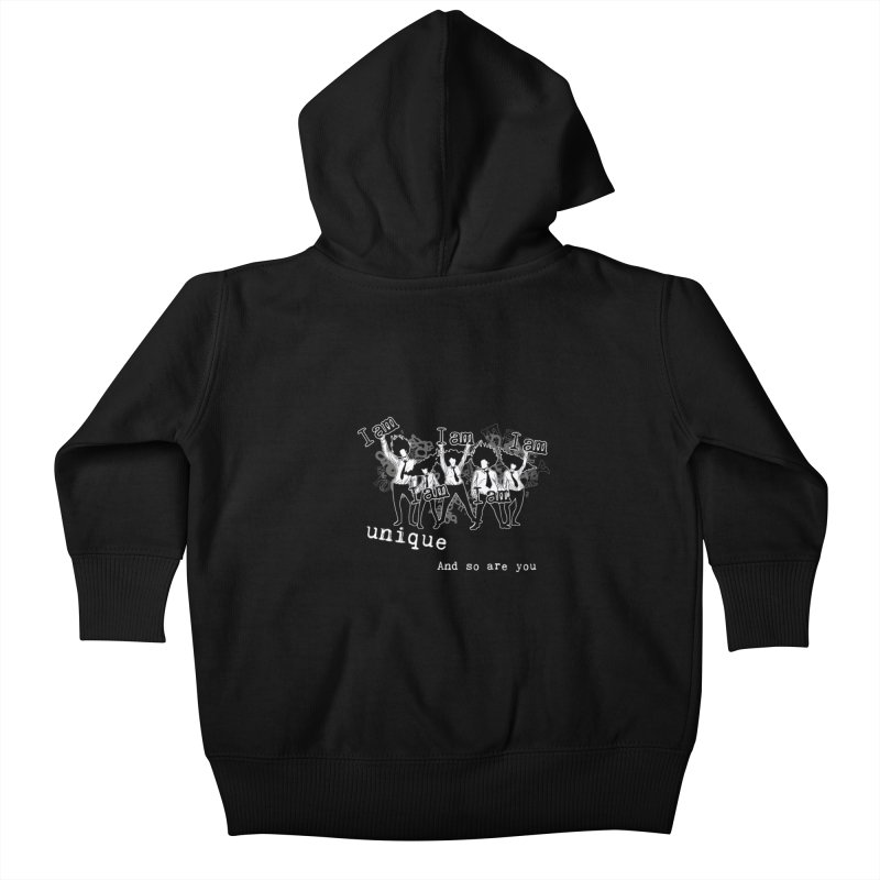 I Am Unique Kids Baby Zip-Up Hoody by Afro Triangle's