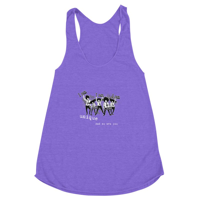 I Am Unique Women's Racerback Triblend Tank by Afro Triangle's