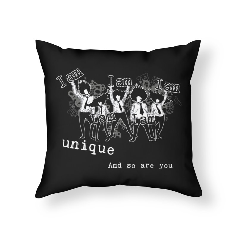 I Am Unique Home Throw Pillow by Afro Triangle's