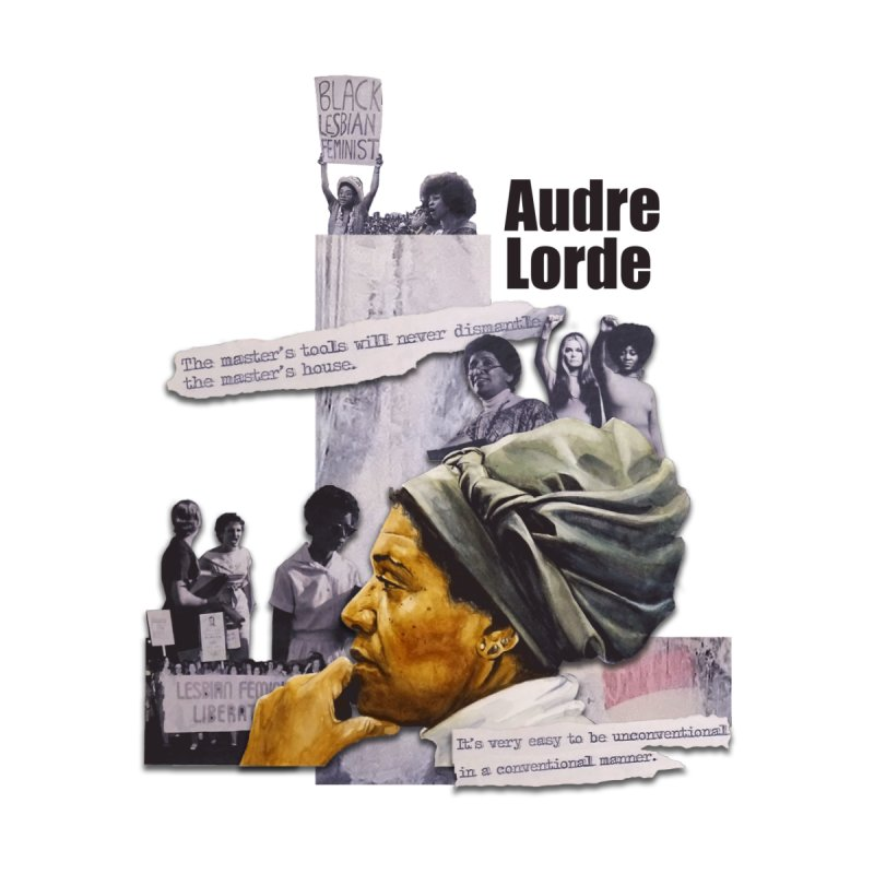 Audre Lorde Home Mounted Aluminum Print by Afro Triangle's