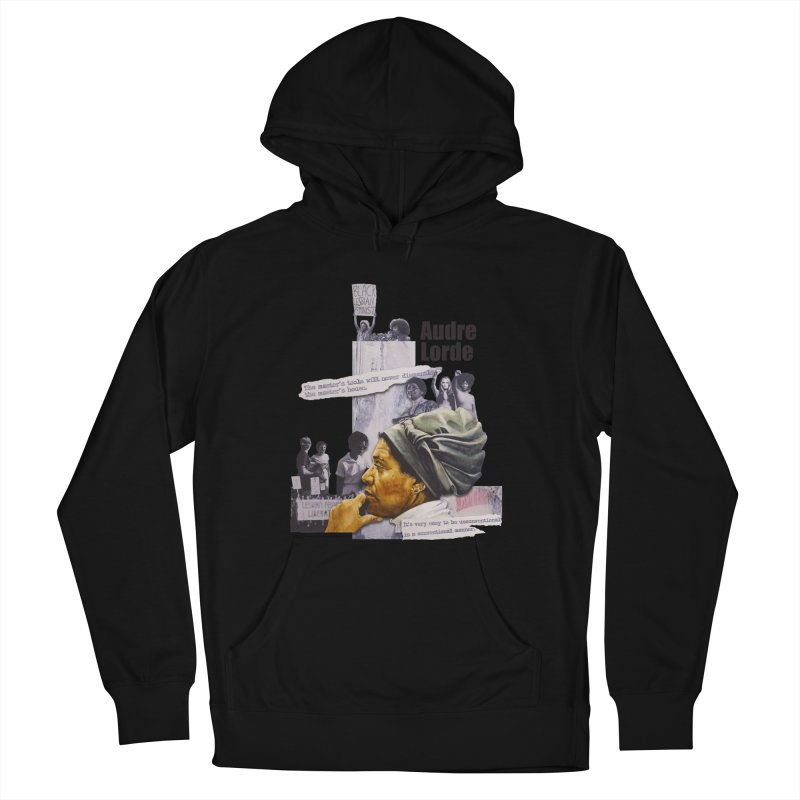 Audre Lorde Women's French Terry Pullover Hoody by Afro Triangle's