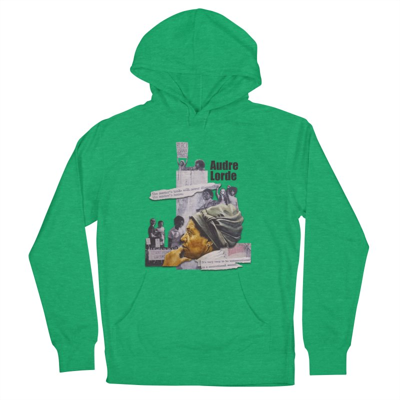 Audre Lorde Men's French Terry Pullover Hoody by Afro Triangle's