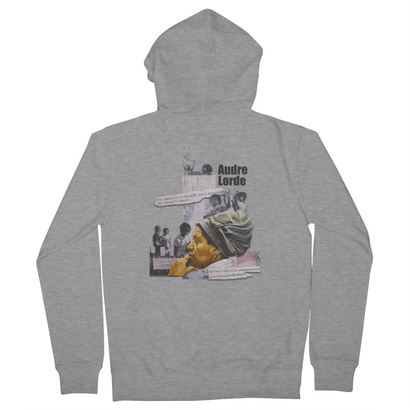 Audre Lorde Women's French Terry Zip-Up Hoody by Afro Triangle's