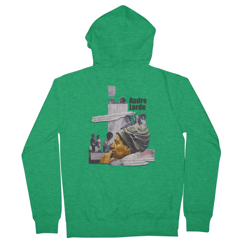 Audre Lorde Men's Zip-Up Hoody by Afro Triangle's