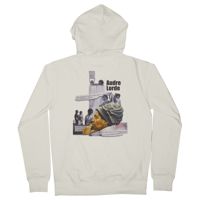 Audre Lorde Men's French Terry Zip-Up Hoody by Afro Triangle's