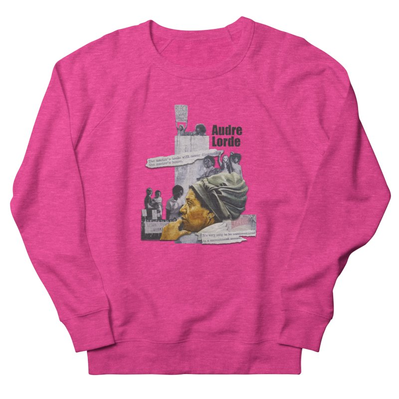 Audre Lorde Women's French Terry Sweatshirt by Afro Triangle's