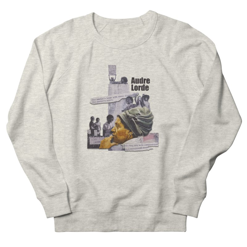 Audre Lorde Men's French Terry Sweatshirt by Afro Triangle's