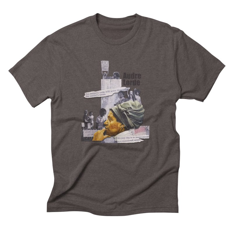 Audre Lorde Men's Triblend T-Shirt by Afro Triangle's