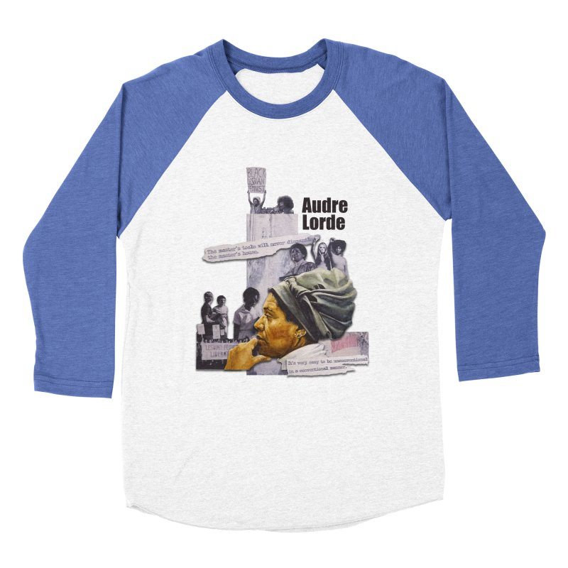 Audre Lorde Men's Baseball Triblend T-Shirt by Afro Triangle's