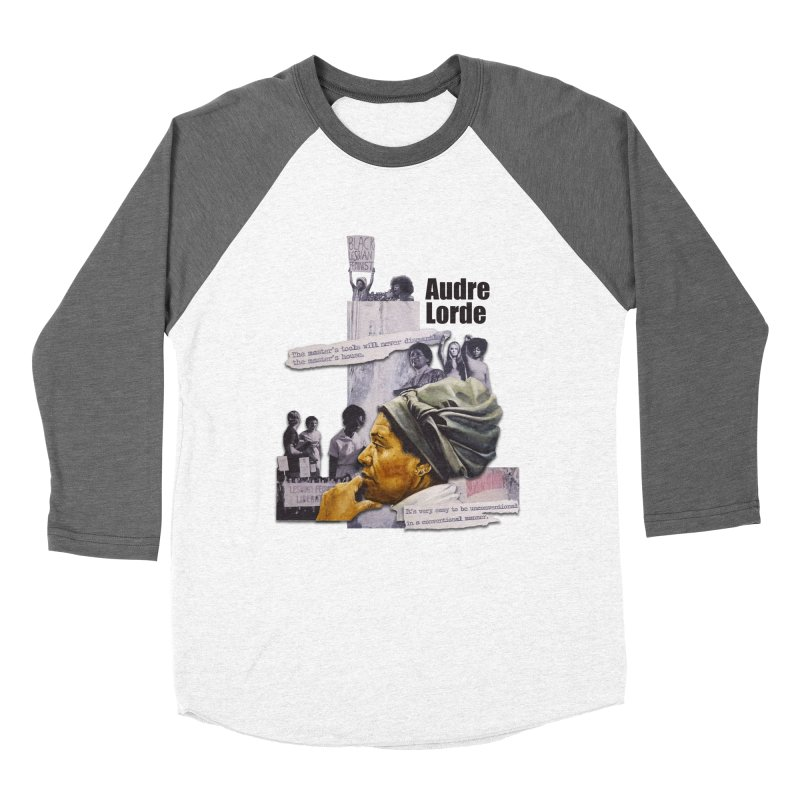 Audre Lorde Men's Baseball Triblend Longsleeve T-Shirt by Afro Triangle's