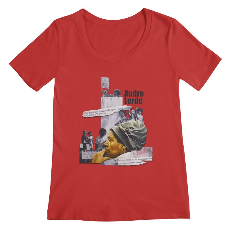 Audre Lorde Women's Regular Scoop Neck by Afro Triangle's
