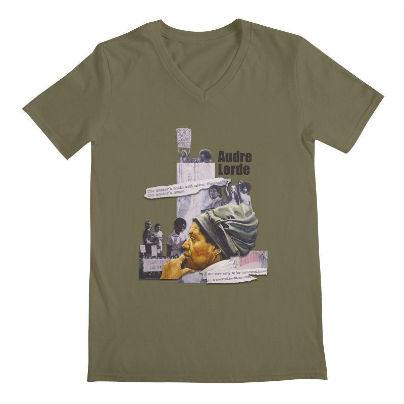 Audre Lorde Men's Regular V-Neck by Afro Triangle's