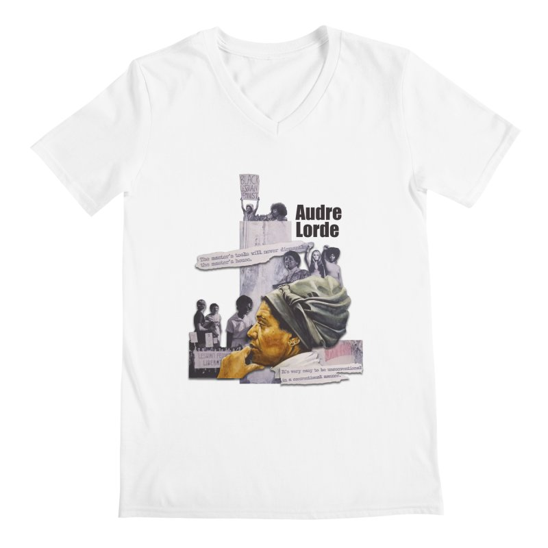 Audre Lorde Men's V-Neck by Afro Triangle's