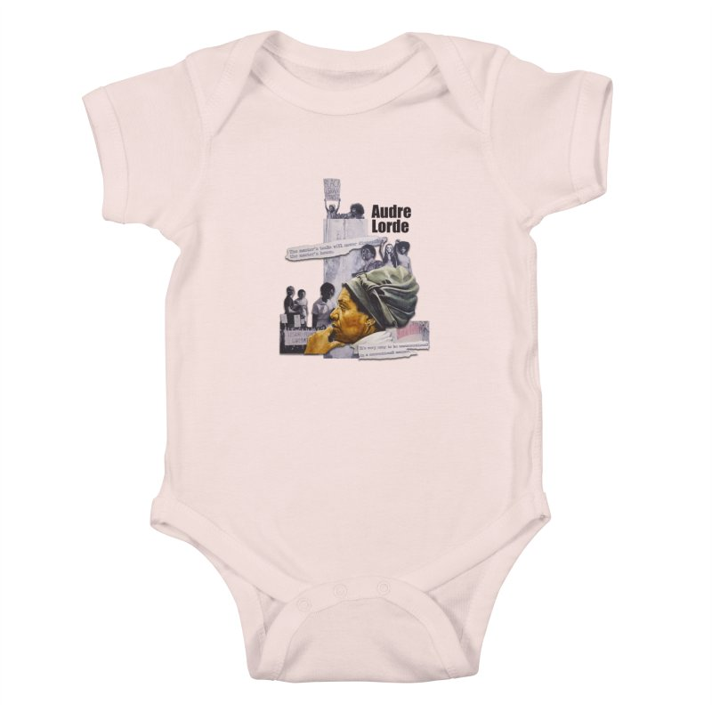 Audre Lorde Kids Baby Bodysuit by Afro Triangle's