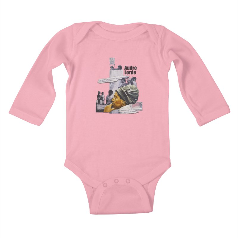 Audre Lorde Kids Baby Longsleeve Bodysuit by Afro Triangle's