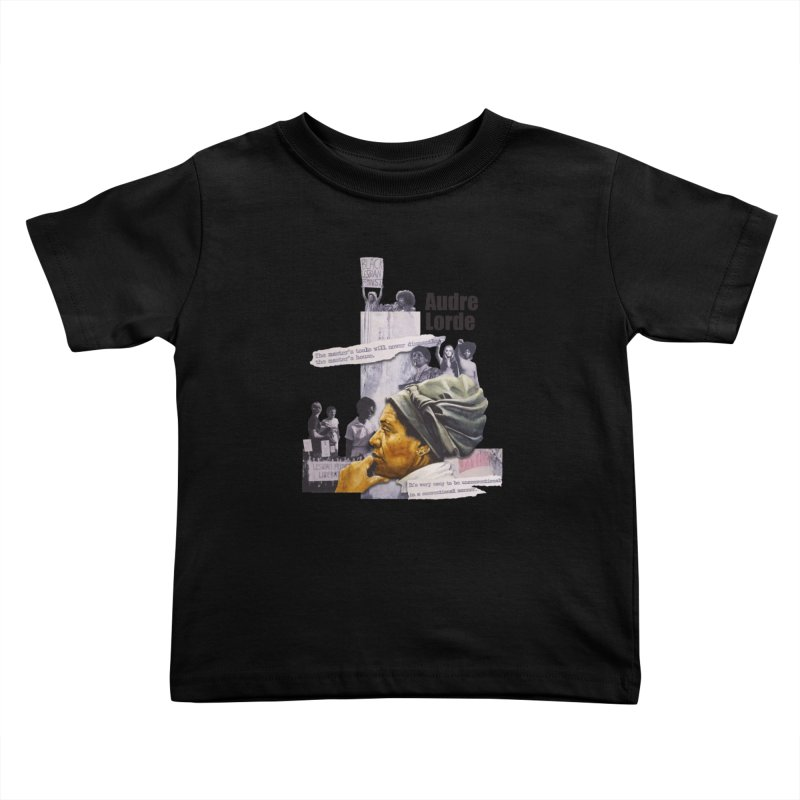Audre Lorde Kids Toddler T-Shirt by Afro Triangle's