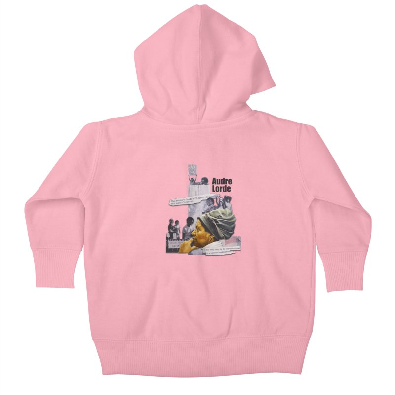 Audre Lorde Kids Baby Zip-Up Hoody by Afro Triangle's