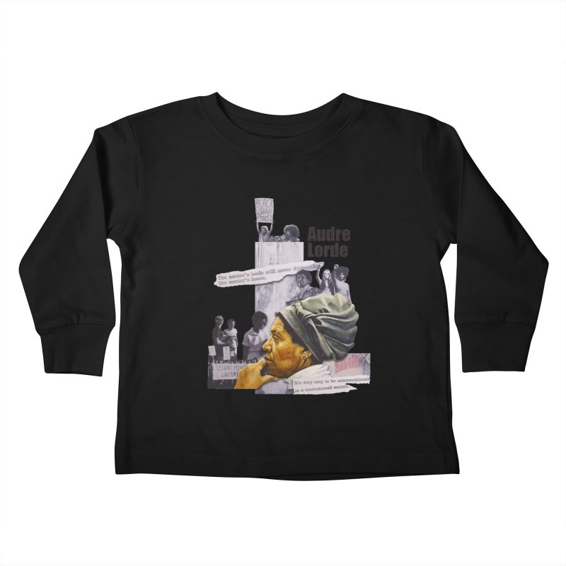 Audre Lorde Kids Toddler Longsleeve T-Shirt by Afro Triangle's