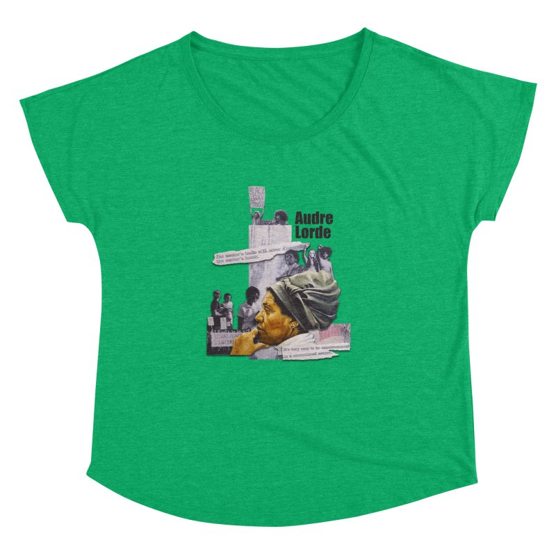 Audre Lorde Women's Dolman Scoop Neck by Afro Triangle's
