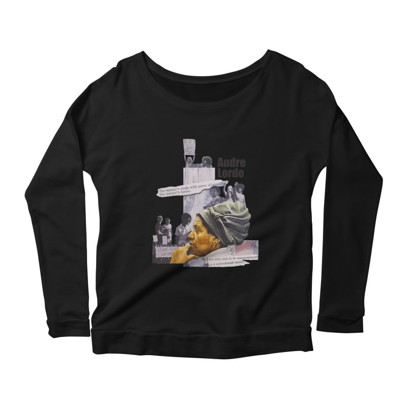 Audre Lorde Women's Scoop Neck Longsleeve T-Shirt by Afro Triangle's