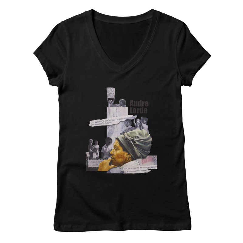 Audre Lorde Women's V-Neck by Afro Triangle's