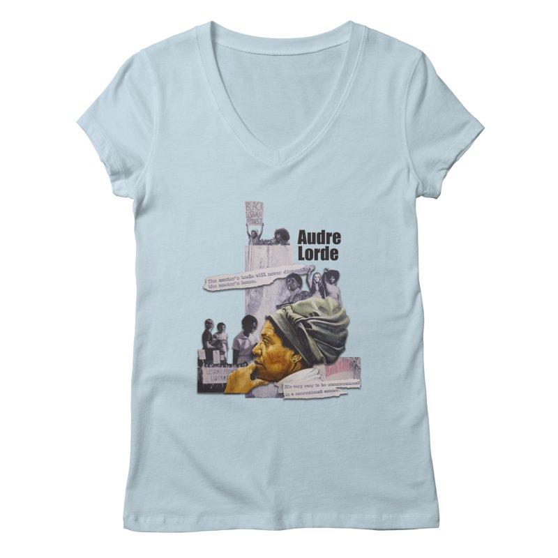 Audre Lorde Women's Regular V-Neck by Afro Triangle's