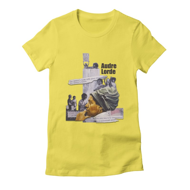 Audre Lorde Women's Fitted T-Shirt by Afro Triangle's