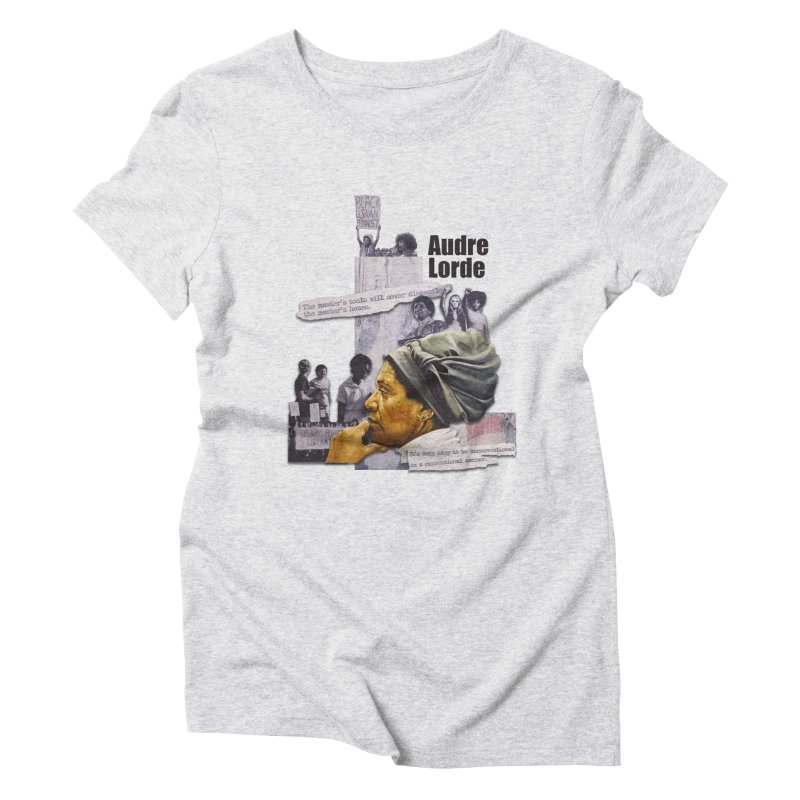 Audre Lorde Women's Triblend T-Shirt by Afro Triangle's