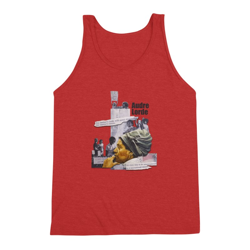 Audre Lorde Men's Triblend Tank by Afro Triangle's