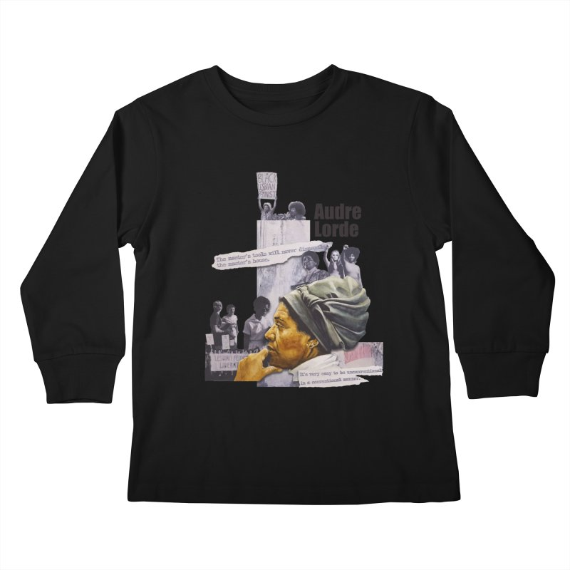 Audre Lorde Kids Longsleeve T-Shirt by Afro Triangle's