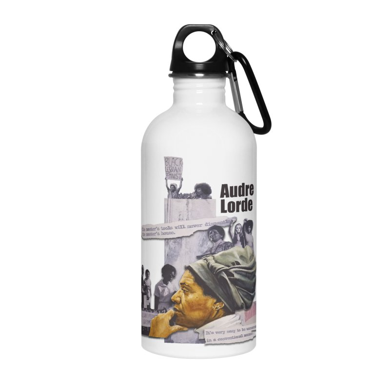 Audre Lorde Accessories Water Bottle by Afro Triangle's
