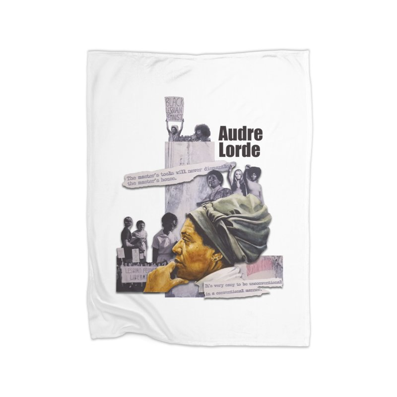 Audre Lorde Home Fleece Blanket Blanket by Afro Triangle's