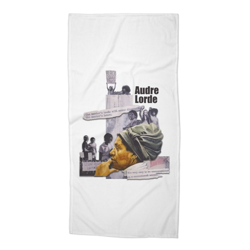 Audre Lorde Accessories Beach Towel by Afro Triangle's