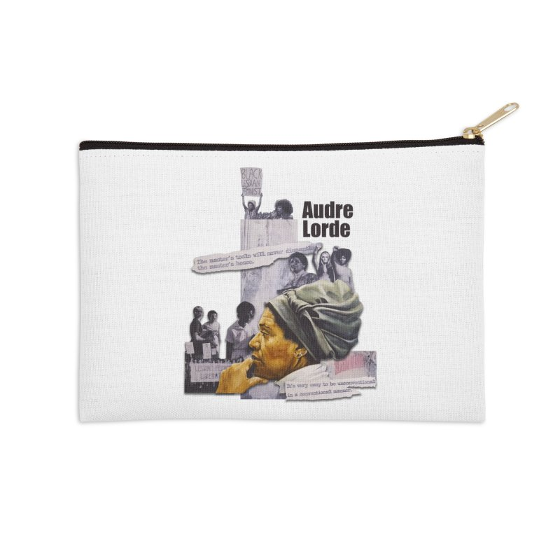 Audre Lorde Accessories Zip Pouch by Afro Triangle's