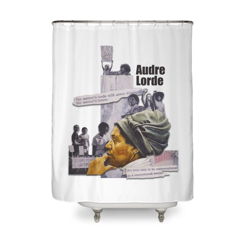 Audre Lorde Home Shower Curtain by Afro Triangle's