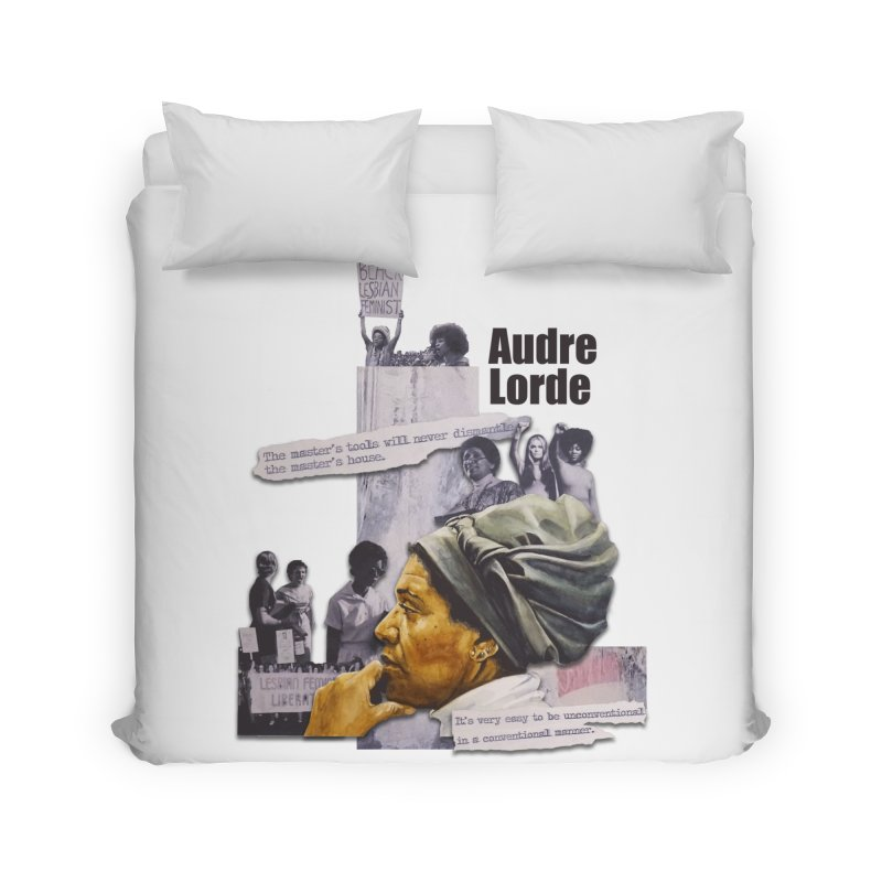 Audre Lorde Home Duvet by Afro Triangle's