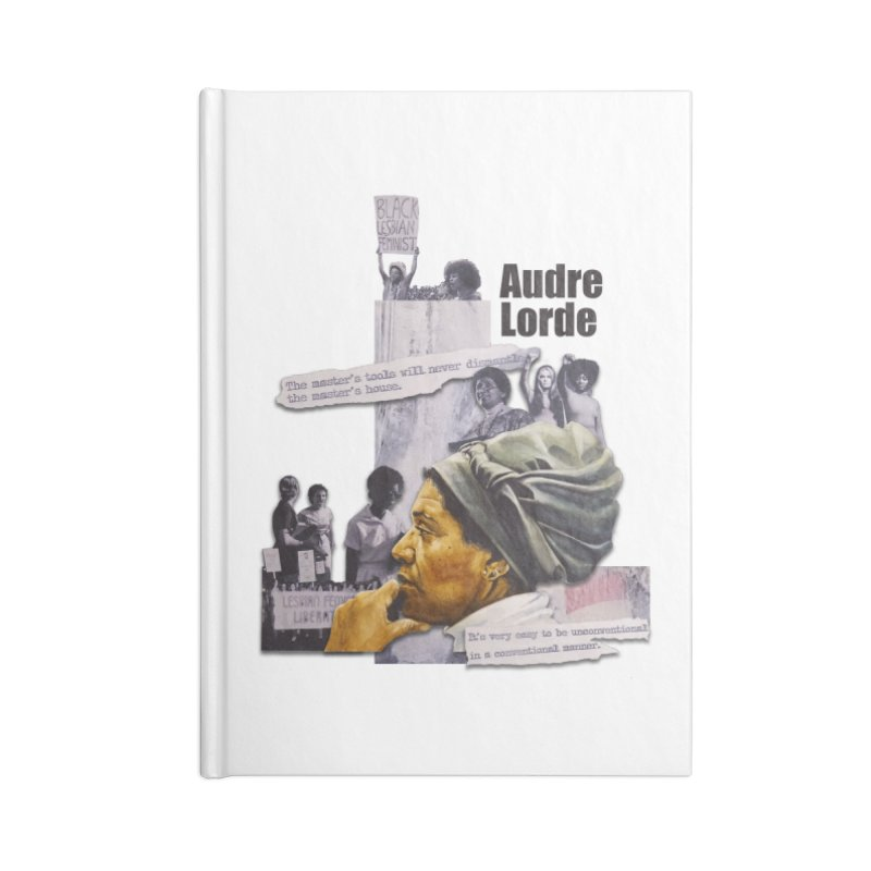 Audre Lorde Accessories Lined Journal Notebook by Afro Triangle's
