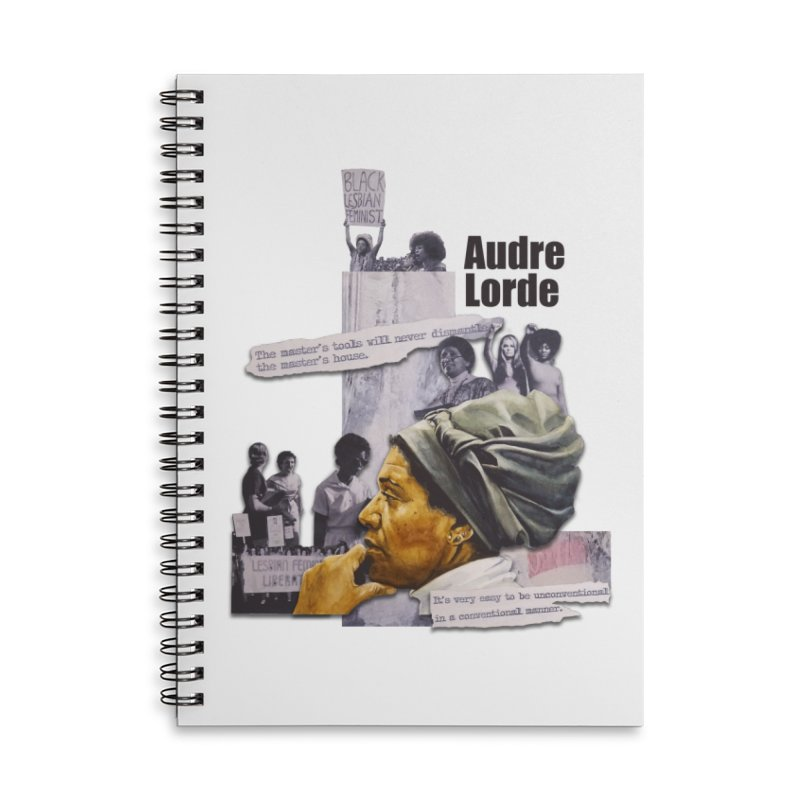 Audre Lorde Accessories Lined Spiral Notebook by Afro Triangle's