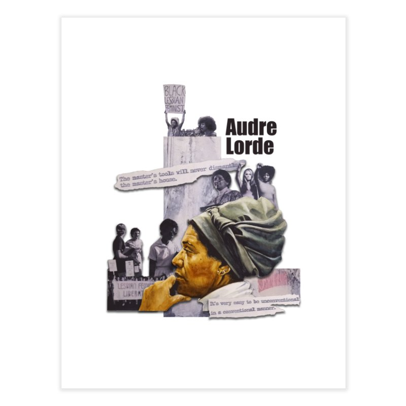 Audre Lorde Home Fine Art Print by Afro Triangle's