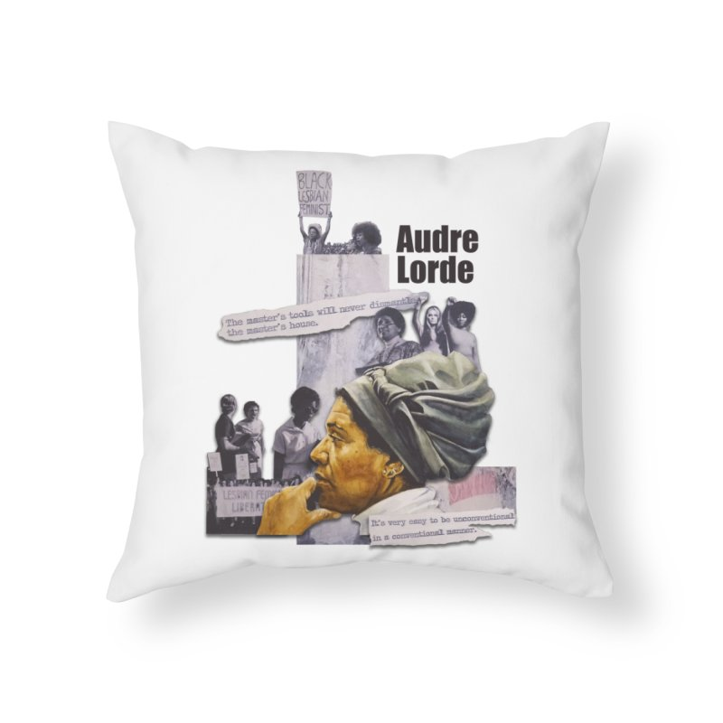 Audre Lorde Home Throw Pillow by Afro Triangle's