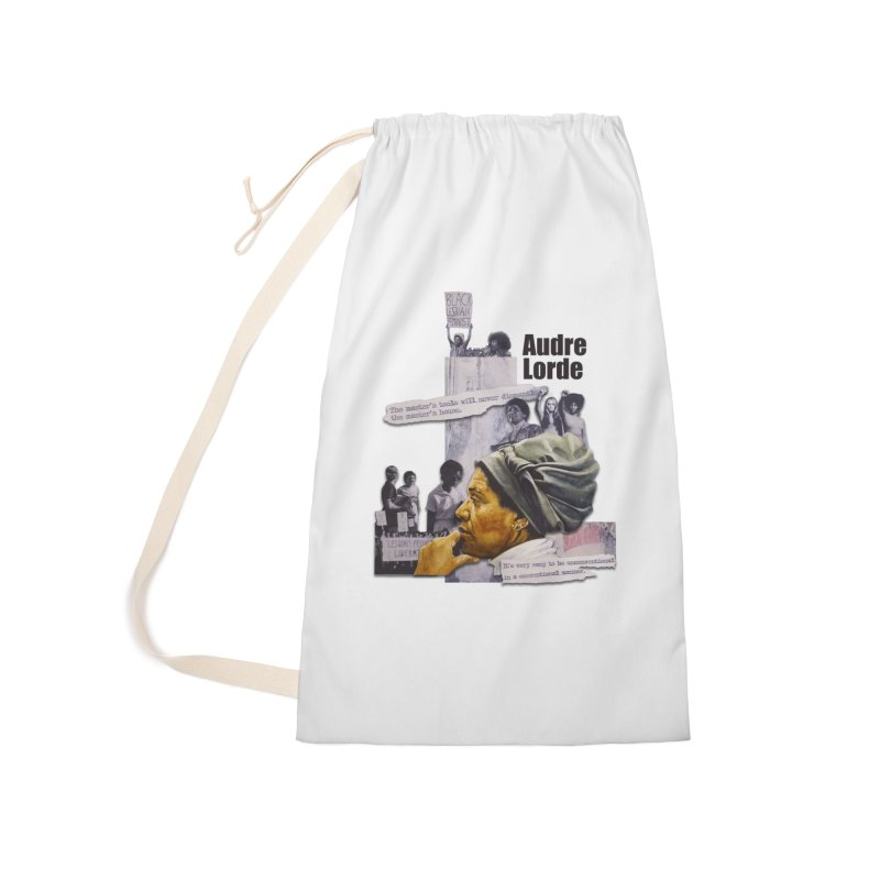 Audre Lorde Accessories Laundry Bag Bag by Afro Triangle's