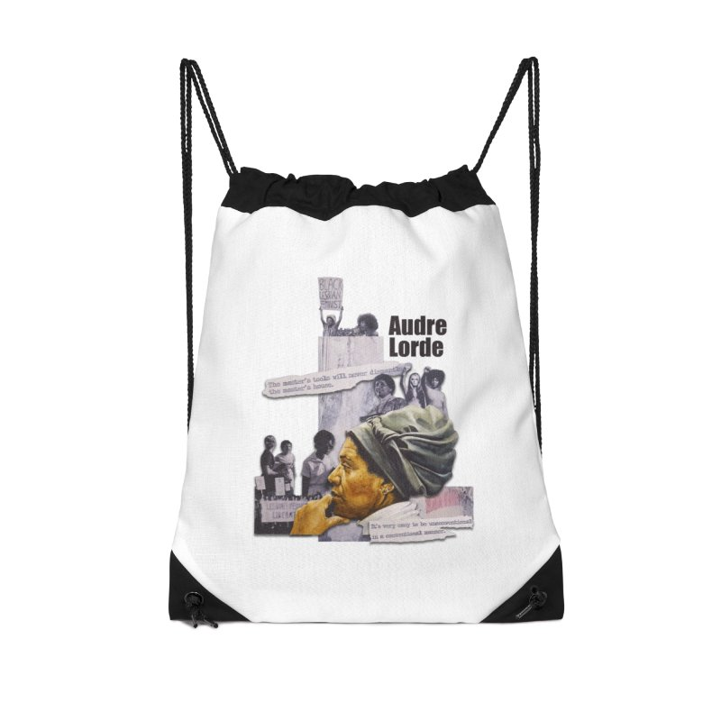 Audre Lorde Accessories Drawstring Bag Bag by Afro Triangle's